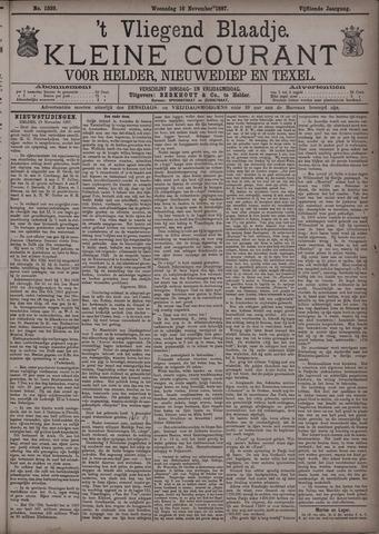 Vliegend blaadje : nieuws- en advertentiebode voor Den Helder 1887-11-16