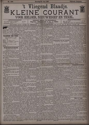 Vliegend blaadje : nieuws- en advertentiebode voor Den Helder 1887-06-25