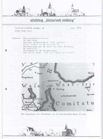 Informatieblad stichting Historisch Niedorp 1994-06-01