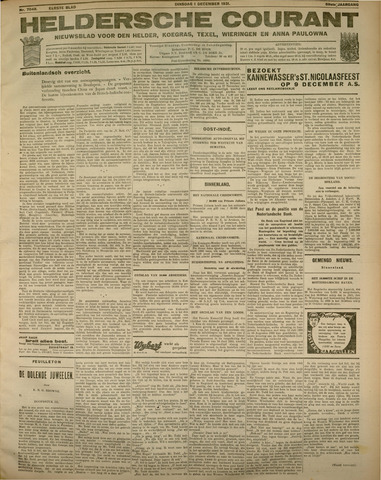 Heldersche Courant 1931-12-01