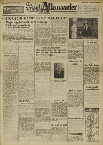 De Vrije Alkmaarder 1949-12-09