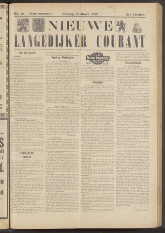 Nieuwe Langedijker Courant 1926-03-23