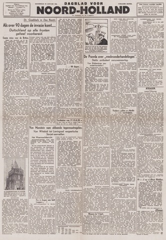 Dagblad Noord-Holland, Schager editie 1944-01-20