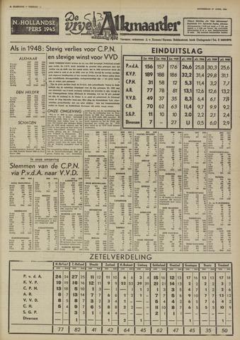 De Vrije Alkmaarder 1950-04-27