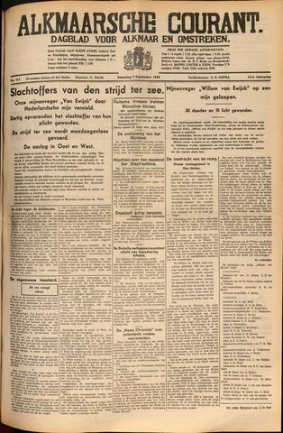 Alkmaarsche Courant 1939-09-09