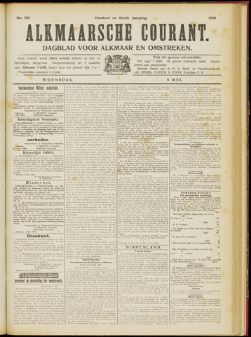 Alkmaarsche Courant 1908-05-06