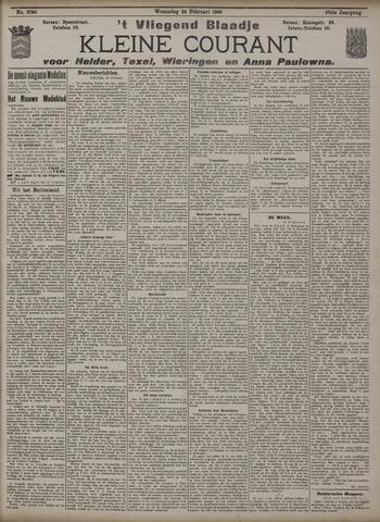 Vliegend blaadje : nieuws- en advertentiebode voor Den Helder 1909-02-24
