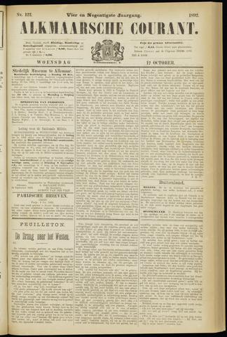 Alkmaarsche Courant 1892-10-12