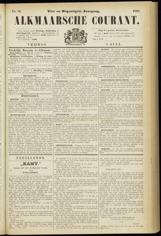 Alkmaarsche Courant 1892-07-08
