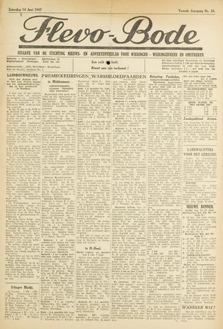Flevo-bode: nieuwsblad voor Wieringen-Wieringermeer 1947-06-14