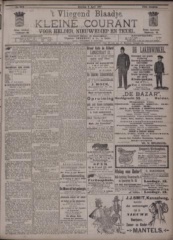 Vliegend blaadje : nieuws- en advertentiebode voor Den Helder 1897-04-03