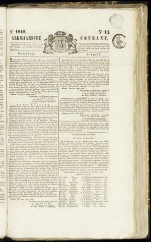 Alkmaarsche Courant 1840-04-06