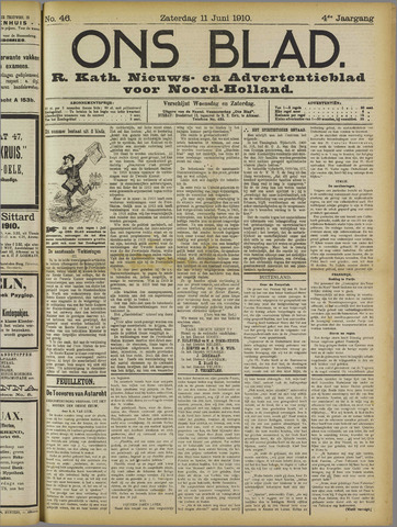 Ons Blad : katholiek nieuwsblad voor N-H 1910-06-11