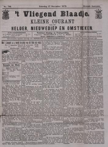 Vliegend blaadje : nieuws- en advertentiebode voor Den Helder 1879-12-27