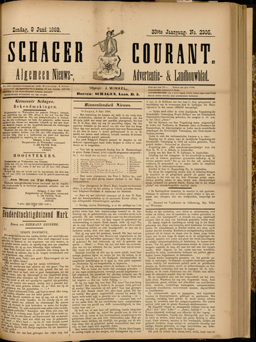Schager Courant 1889-06-09