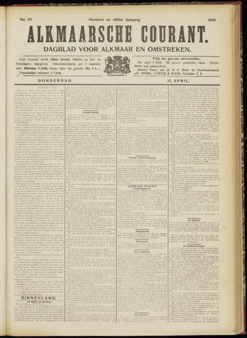 Alkmaarsche Courant 1909-04-22