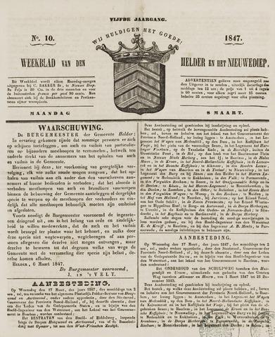 Weekblad van Den Helder en het Nieuwediep 1847-03-08