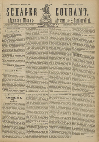 Schager Courant 1911-08-30