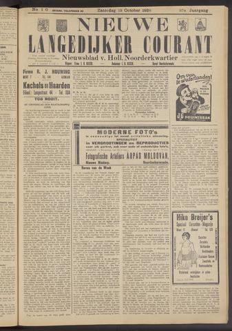 Nieuwe Langedijker Courant 1928-10-13