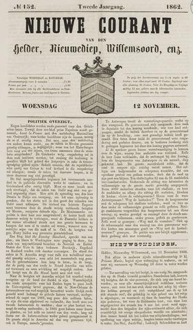 Nieuwe Courant van Den Helder 1862-11-12