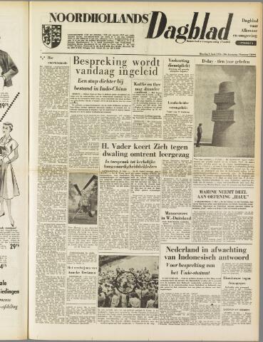 Noordhollands Dagblad : dagblad voor Alkmaar en omgeving 1954-06-01