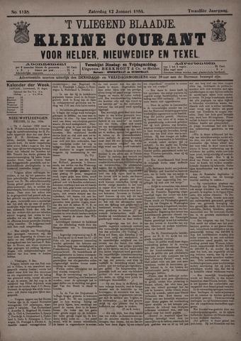 Vliegend blaadje : nieuws- en advertentiebode voor Den Helder 1884-01-12