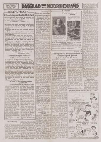 Dagblad Noord-Holland, Schager editie 1944-09-05