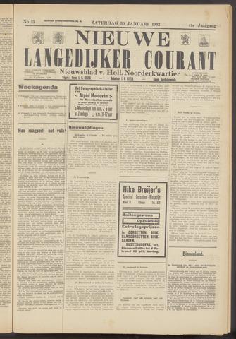 Nieuwe Langedijker Courant 1932-01-30