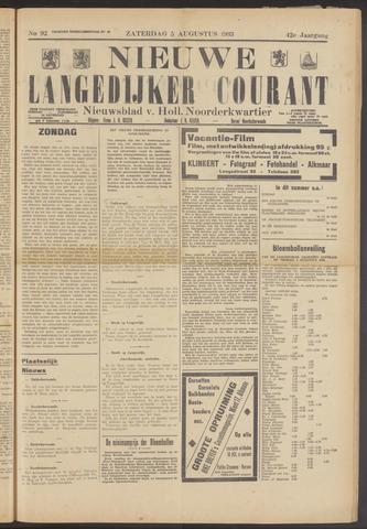 Nieuwe Langedijker Courant 1933-08-05
