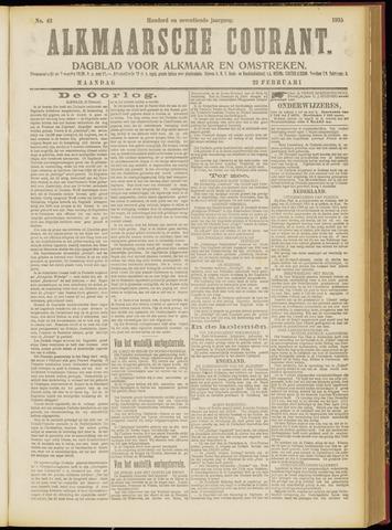 Alkmaarsche Courant 1915-02-22