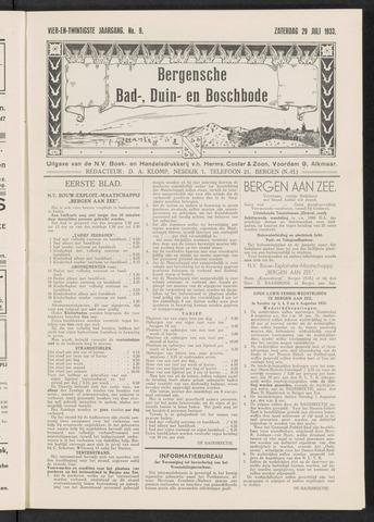 Bergensche bad-, duin- en boschbode 1933-07-29