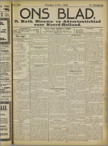 Ons Blad : katholiek nieuwsblad voor N-H 1913-12-02