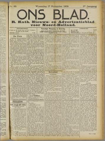 Ons Blad : katholiek nieuwsblad voor N-H 1909-11-17