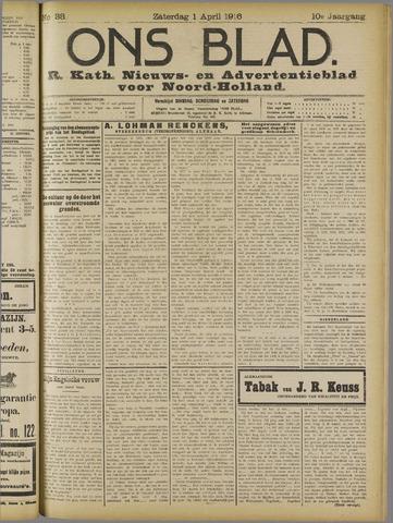Ons Blad : katholiek nieuwsblad voor N-H 1916-04-01
