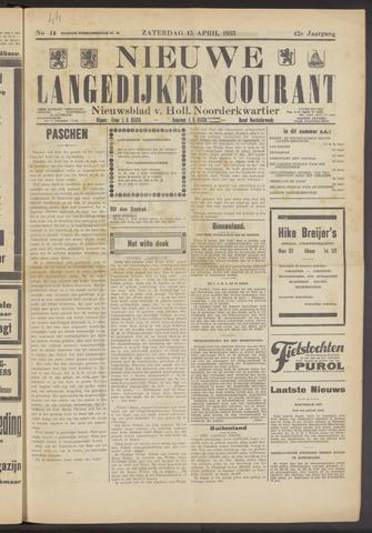 Nieuwe Langedijker Courant 1933-04-15