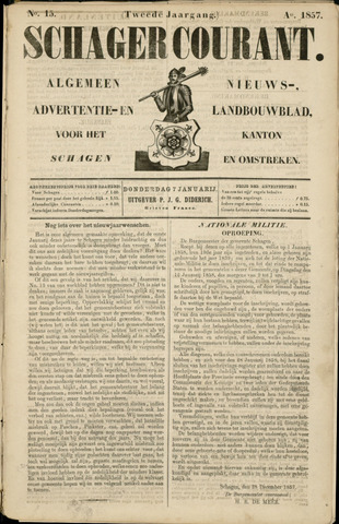 Schager Courant 1858