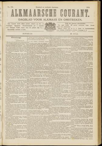 Alkmaarsche Courant 1914-07-28