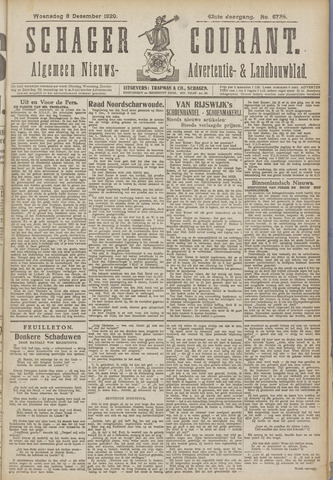 Schager Courant 1920-12-08