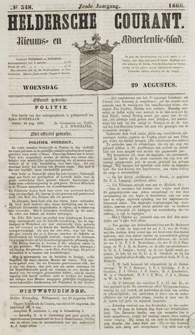 Heldersche Courant 1866-08-29