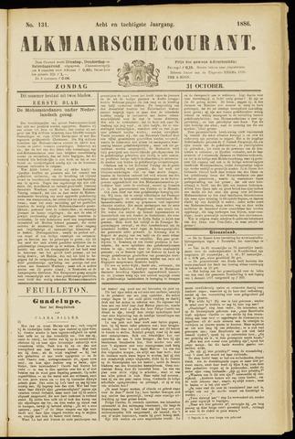 Alkmaarsche Courant 1886-10-31