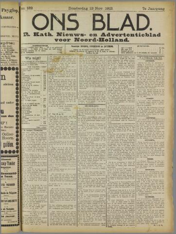 Ons Blad : katholiek nieuwsblad voor N-H 1913-11-13