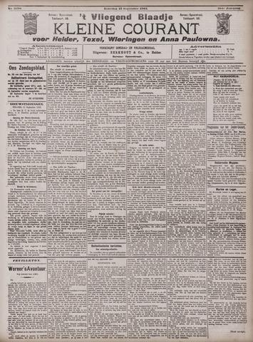 Vliegend blaadje : nieuws- en advertentiebode voor Den Helder 1903-09-12
