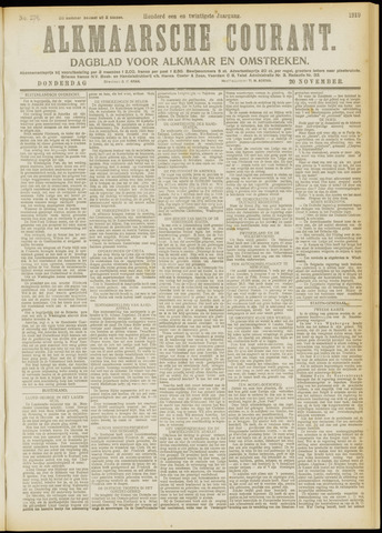 Alkmaarsche Courant 1919-11-20