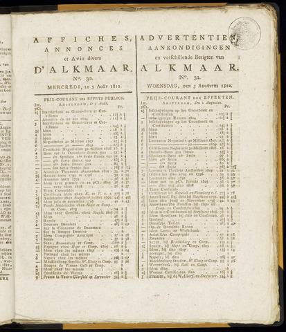 Alkmaarsche Courant 1812-08-05