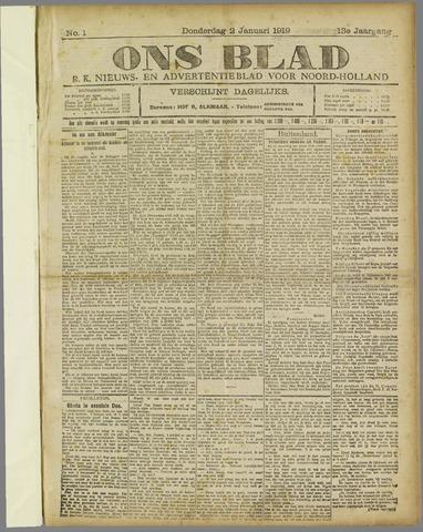 Ons Blad : katholiek nieuwsblad voor N-H 1919-01-02