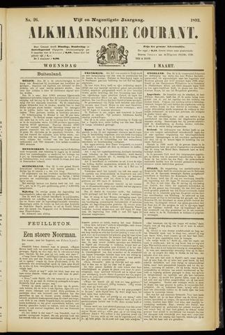 Alkmaarsche Courant 1893-03-01
