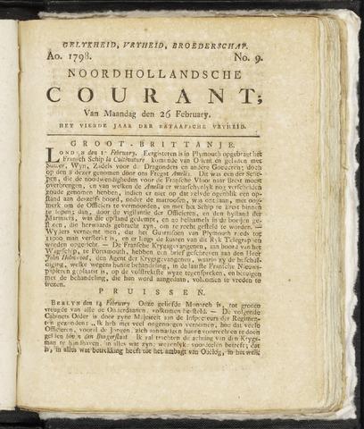 Noordhollandsche Courant 1798-02-26