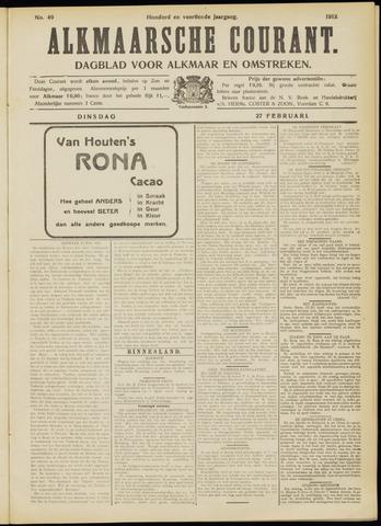 Alkmaarsche Courant 1912-02-27