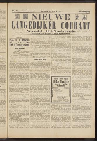 Nieuwe Langedijker Courant 1927-04-30