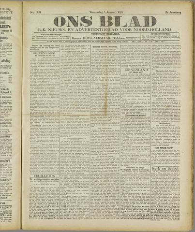 Ons Blad : katholiek nieuwsblad voor N-H 1921-01-05